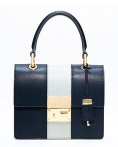 #Michael Kors Middleton Colorblock Square Flap Bag