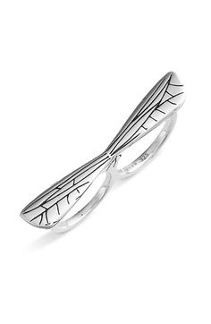 Dragonfly 2 finger ring