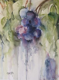 """Blue Beckoning"" watercolour, Angela Fehr"