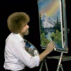 Where did all of Bob Ross' paintings go?