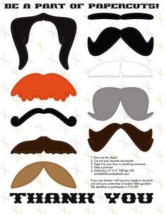 mustache printable