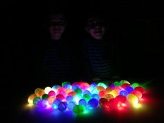 put LED finger lights in plastic eggs and have a glow in the dark easter egg hunt