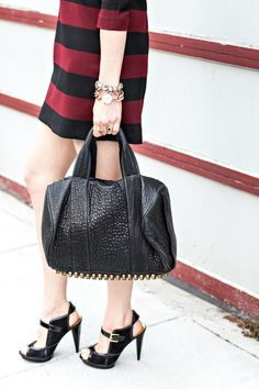 MCLV Style: Striped Dress | Moi Contre La VieMoi Contre La Vie - Alexander Wang Rocco duffle