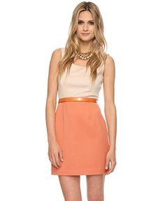 colorblocked zippered dress