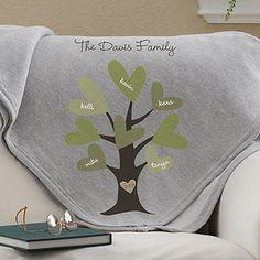 Leaves of Love Personalized Sweatshirt Blanket