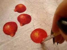 Pintura em tecido Eliane Nascimento: Pintando morangos 1 - YouTube