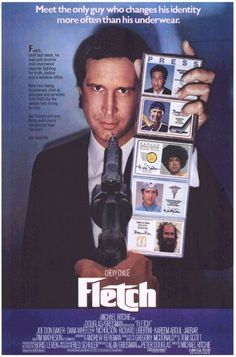 """One of Chevy Chases best movies and one of my favorite comedies of all time.  Fletch!  I can't tell you him many times I have watched this movie!  """"Utah?""""  """"utah, wedged in between wyoming and nevada, you've seen pictures"""""""