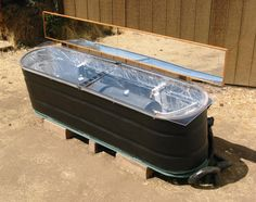 Solar Batch Water Heater With Stock Tank Enclosure