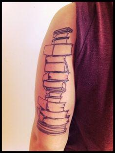 Books tattoo. I wish I thought of this.