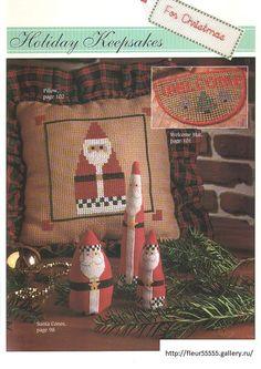 Gallery.ru / Фото #83 - 19 - Fleur55555; Santa pillows, Santa cones, doormat cross stitch patterns