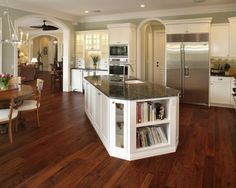 wall colors, floor, traditional kitchens, dream, angl, open kitchens, kitchen islands, white cabinets, kitchen designs
