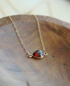 pomegranate necklace + gold