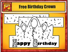 Free Printable Birthday Crowns with balloons from Charlotte's Clips