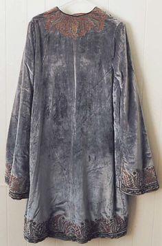 Evening coat (back), c, 1920, by Vitaldi Babani (French, born Middle East, active 1895–1940)