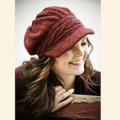 Hannah Newsboy Hat knit pattern | Knitting Pattern | YouCanMakeThis.com