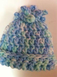 Cathi's Micro Preemie Hat crochet hat patterns, crochetknit stuff, crochet hats, cathi, babi, micro preemi, micropreemi, craftscrochet hat, preemi hat