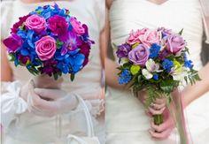 azules y rosas