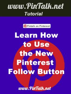 Pinterest Introduces a New Follow Button. This latest version of the Pinterest follow button is available to everyone! If your website already has the follow button installed, it will be automatically updated with the new functionality. If you do not have the follow button code, pop over the Pinterest widget builder, build your code and add it to your site! If you have a WordPress blog, you can just create a new page and paste the code onto a new post like this one.