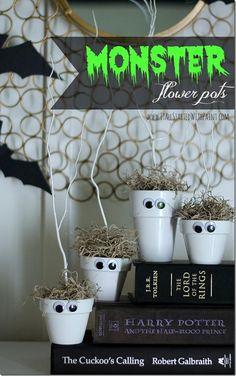 Halloween craft ideas monster flower pots