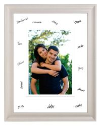 Have guests sign the matte of a large 8x10 framed photo of the bride and groom. Just make the right size enlargement at a KODAK Picture Kiosk. #wedding