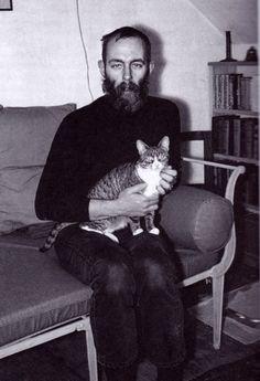 Edward Gorey and cat