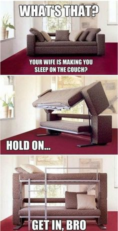 Dating Fails: Sure, I'll Sleep on the Couch Tonight - This is so awesome.  I want one!