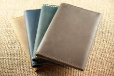 Passport Wallet Chestnut Brown Leather by PopovLeather