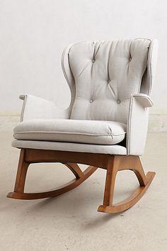 a chic modern rocking chair // #nursery #rocker