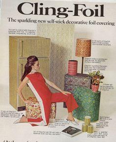 1967 Cling-Foil Wallpaper advertisement | Vintage Advertisements...