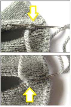 How to sew seams in knitting using mattress or ladder stitch.