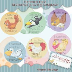 Latter-Day Chatter: Reverence: Hatched Eggs