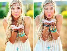 Random fun on a photo shoot. Boho Style.     ( @Amy Lyons Lyons Wilson Cierzan is this you?!?! if not you guys could pass as twins :D)