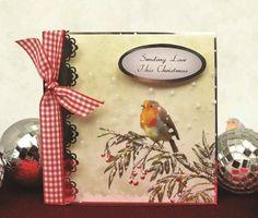 Bird christma card, card 12, bird, card ideashunkydori, hunkydori card, card hunkydori, hunkydori idea, crafti card, general card