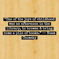 The joys of childhood... Noam Chomsky