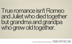 <3 so beautifully true! The best love stories of al, are those that made it through tough times and never gave up on their love for one another!