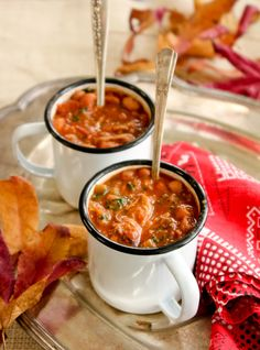 Slow Cooker Pork & Bean Stew