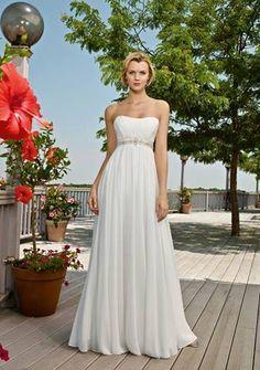 greek goddess style wedding dress. yes<3
