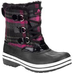 Ozark Trail Women's Markham Lace-Up Plaid Winter Boots
