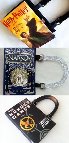 Your favorite books turned into bags.