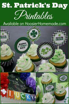 holiday, cupcak topper, tag, stpatrick, printabl, cupcake toppers