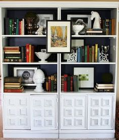 how to decorate a book shelf