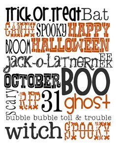 Lovely Little Snippets:  Free Halloween Printable in black & orange or in black, green & purple