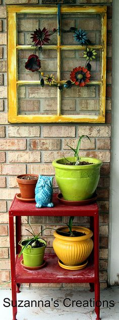 Decorative Flower Pots love this look for the patio!