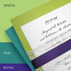 Wedding Color Ideas - Pear Green, Teal and Purple | Invitation IdeasInvitation Ideas