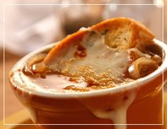 One of our most popular items - Mimi's famous French Onion Soup!