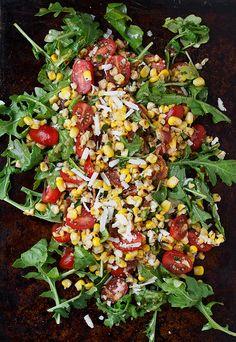tomato basil, tomato arugula, arugula salad, tomato vinaigrette, salad arugula