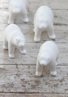 White Polar Bear Family by Bodie and Fou fou, polar bears, white style, karin kong, families, bear famili, white polar, christma, thing