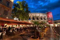 Cafe near the Colosseum. #treyratcliff at http://www.StuckInCustoms.com - all images Creative Commons Noncommercial