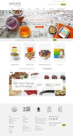 Spicely website design