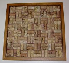Wine cork board. Time to start collecting.